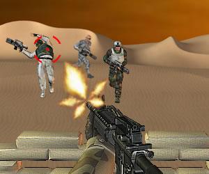 sparatutto nel deserto